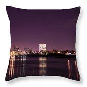 City Lights Skyline Throw Pillow