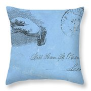 Civil War Letter, C1863 Throw Pillow