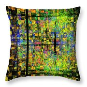 Colorful Psychedelic Abstract Fractal Art Throw Pillow