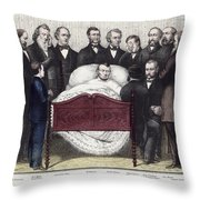 Death Of Lincoln, 1865 Throw Pillow