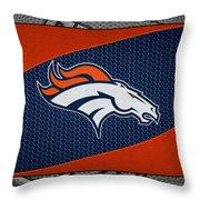 Denver Broncos Throw Pillow