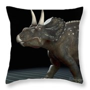 Dinosaur Diceratops Throw Pillow