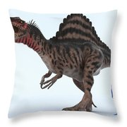 Dinosaur Spinosaurus Throw Pillow