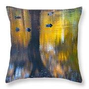 8 Ducks On Pond Throw Pillow