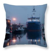 Early Morning In Portland, Maine Throw Pillow