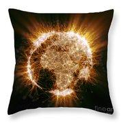 Earths Energy Throw Pillow
