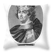 Edward I (1239-1307) Throw Pillow