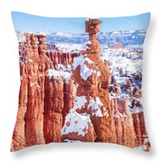Eroded Rocks In A Canyon, Bryce Canyon Throw Pillow