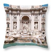 Fontana Di Trevi In Rome Throw Pillow