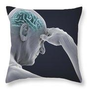 Head Pain Throw Pillow