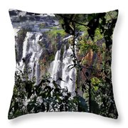 Iguazu Falls - South America Throw Pillow