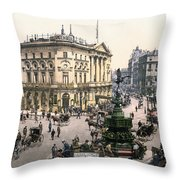 London Piccadilly Circus Throw Pillow