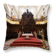 Mezquita Cathedral Interior In Cordoba Throw Pillow