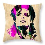 Michael Jackson Painting Throw Pillow