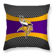 Minnesota Vikings Throw Pillow