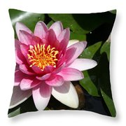 Pink Lotus Throw Pillow