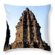 Prambanan Temple In Indonesia Throw Pillow