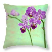 Purple Orchid-11 Throw Pillow