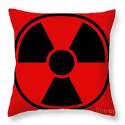 Radiation Warning Sign Throw Pillow