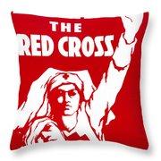 Red Cross Poster, 1917 Throw Pillow