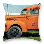 Route 66 - Mclean Texas Throw Pillow