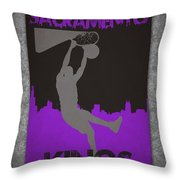 Sacramento Kings Throw Pillow