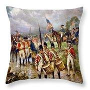 Saratoga: Surrender, 1777 Throw Pillow