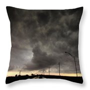 Severe Warned Nebraska Storm Cells Throw Pillow