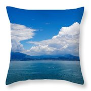 Sirmione. Lago Di Garda Throw Pillow