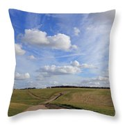 Spring Sunshine On Epsom Downs Surrey Throw Pillow