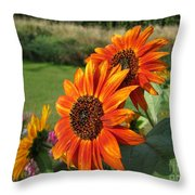 Sunflower From The Color Fashion Mix Throw Pillow