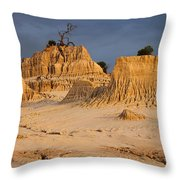 Sunset In An Ancient Land Throw Pillow