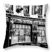 The Sherlock Holmes Pub Throw Pillow