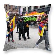 Tibetan Protest March Throw Pillow