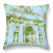 Trevi Fountain Landscape Throw Pillow