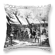 Valley Forge, Winter 1777 Throw Pillow