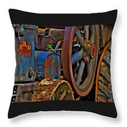 Wheels Of Time Throw Pillow