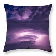 Wicked Good Nebraska Supercell Throw Pillow