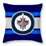 Winnipeg Jets Throw Pillow