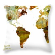 Abstract Map Throw Pillow