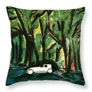 Vision Automobiles Throw Pillow