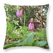 #800 D405 Lady Slipper Throw Pillow