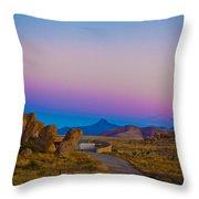 80's Sunset Throw Pillow