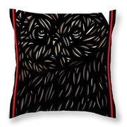 Pettry Owl Blue Brown White Throw Pillow