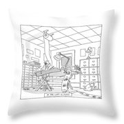 At The Laff-a-minit Throw Pillow
