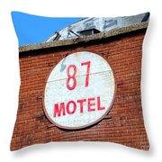 87 Motel Throw Pillow