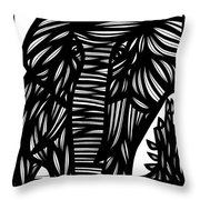 Cubr Elephant Black And White Throw Pillow