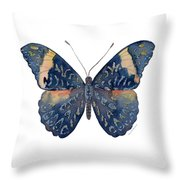 89 Red Cracker Butterfly Throw Pillow