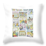New Yorker April 13th, 2009 Throw Pillow
