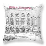 8th And Clark Busch Stadium Sketch Throw Pillow